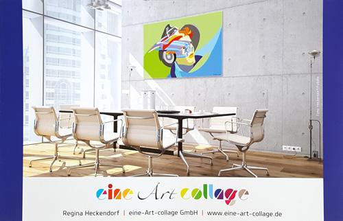 Flyer Foto (Rückseite) - Kunstcollagen Regina Heckendorf